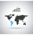 latin america map vector image vector image