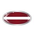 latvia flag oval button vector image vector image