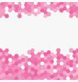light pink random hexagon mosaic tiles background