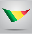 malian flag background vector image vector image