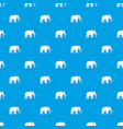 mammoth pattern seamless blue vector image vector image