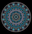 mandala art australian dot painting white vector image vector image
