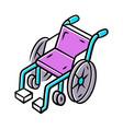 manual wheelchair color icon wheel chair mobility vector image vector image