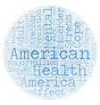 mental health america text background wordcloud vector image vector image