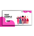 mix race girls standing together female vector image vector image