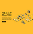 money transfer mobile phone vector image vector image