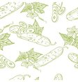 Monochrome seamless pattern of cucumbers vector image