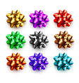 multicolored bows for gifts isolated on white vector image