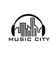 music city concept design template vector image vector image