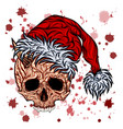 new year skull with splashes blood vector image vector image