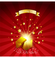 Open magic gift with fireworks from light effect vector image vector image