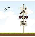 railroad crossing vector image vector image