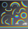 rainbow colorful bowed arc in raining sky vector image