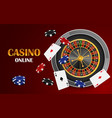 red casino online concept background realistic vector image