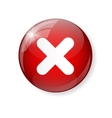 Red Check Mark Icon Button vector image vector image