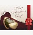 retro valentine card vector image vector image