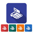 rounded square icon of pos-terminal with credit vector image vector image