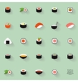 Set of sushi label vector image
