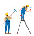 set painter proffessional characters man at work vector image vector image