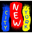 T shirt typography graphics New York Brush stroke vector image vector image