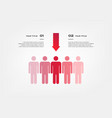 target infographics with arrows element of chart vector image vector image