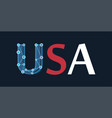 United states america - usa label in colors of