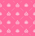 wallpaper seamless baroque in pink color vector image vector image
