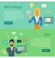 Web Design SEO Conceptual Banners Internet vector image