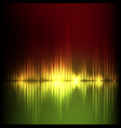 yellow-red wave abstract equalizer background vector image vector image