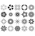 set of black round design elements vector image