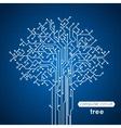 Circuit Board Tree vector image