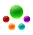 Set of colorful glossy buttons vector image