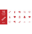 15 beat icons vector image vector image