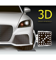 3D wheel alignment vector image vector image