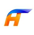 A letter blue and Orange logo design Fast speed vector image vector image