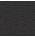 Abstract black waves pattern with red lines vector image vector image