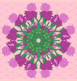 abstract pattern with irises vector image