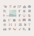 arts and entertainment icon set collection of vector image vector image