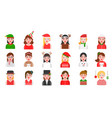 avatar in winter and christmas theme various vector image