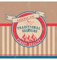 Barbecue BBQ grill logo stamp retro poster vector image vector image