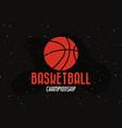 basketball sport design vector image vector image