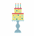 birthday cake on stand vector image