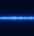 blue neon sound wave pulse audio signal vector image