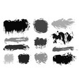 brush strokes paintbrush set grunge vector image vector image