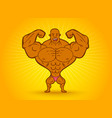 cartoon a bodybuilder vector image