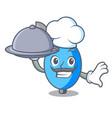 chef with food ambu bag mascot cartoon vector image