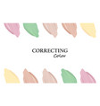 color correcting color of the masking smear for vector image vector image