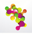 colored splashe bubbles in abstract shape vector image vector image