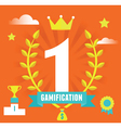 Concept of gamification concept and business vector image vector image