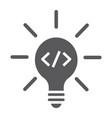 creative glyph icon idea and innovation vector image vector image